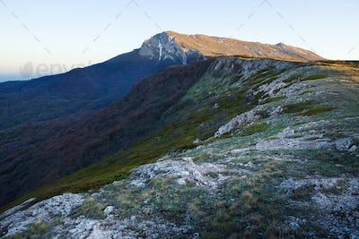 Picturesque mountain panorama
