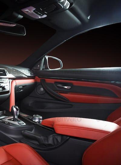 Modern Luxury Car Interior Dashboard