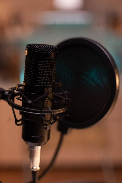 Zooming on professional microphone