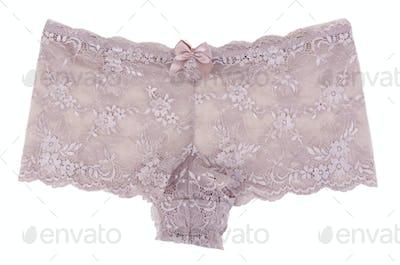 Beige Women's lace panties