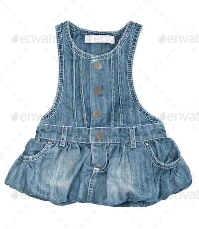 baby blue denim dress
