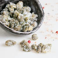 Salted capers in the bowl