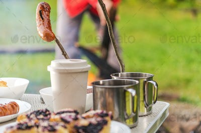 Camping with Campfire Made Food