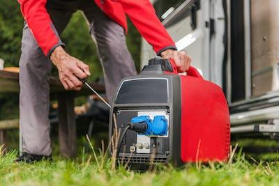Firing Up Gas Powered Portable Inverter Generator