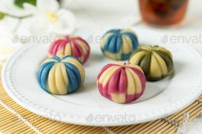 Japanese traditional confectionery cake wagashi