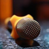 Karaoke microphone in room