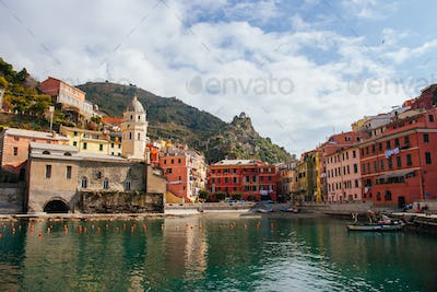 Vernazza Harbour Area in Italy