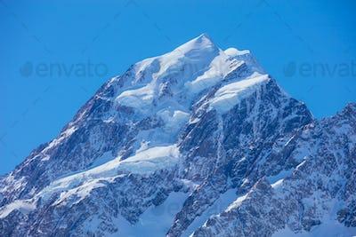 Mt Cook Summit in New Zealand
