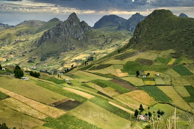 Hills and Valleys Landscape, Ecuadorian Andes, Ecuador