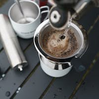 coffee drip process in the morning