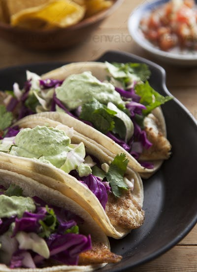 Close up of taco plate