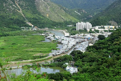 Tai O fishing village view from high