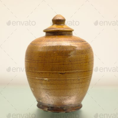 jar in amber glaze, from China , Tang dynasty