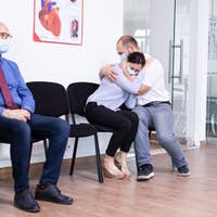 Bad news for couple in hospital lobby