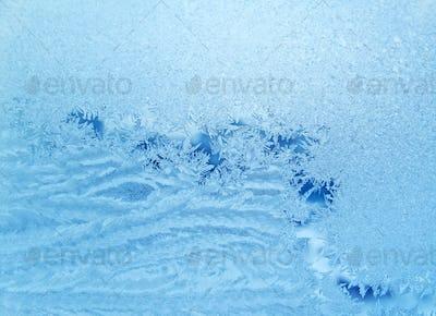 blue frosty natural pattern