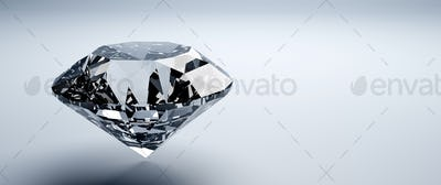 Brilliant cut diamond, precious gem jewelry