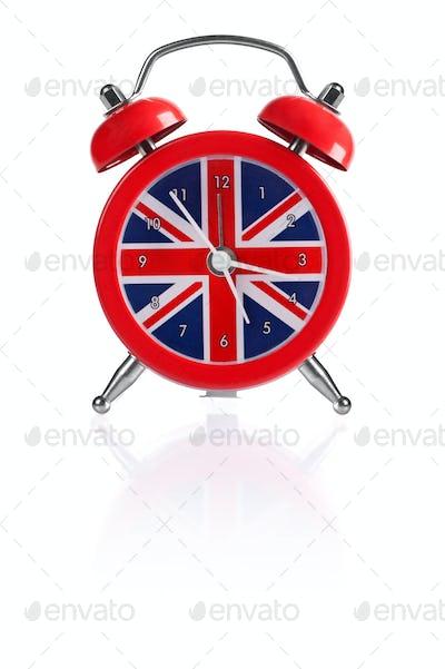 British flag alarm clock