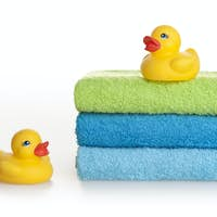 Two rubber ducks
