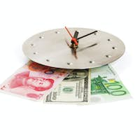 currency on a clock