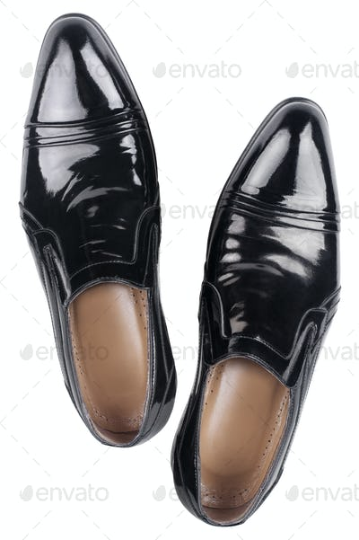 Elegant shiny black shoes