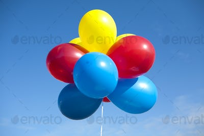 Multi-Colored Balloons on a string