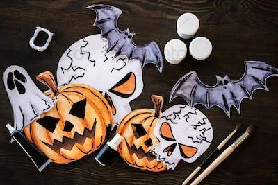 Drawings of Halloween characters