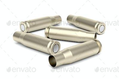 Empty bullet cartridges