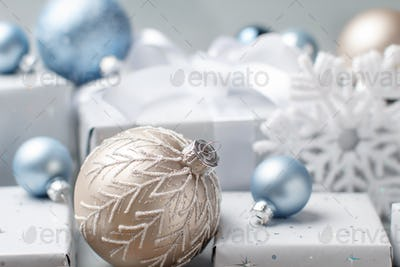 Christmas decorations and presents