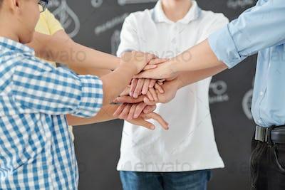 School team at science competiton