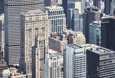 Diverse architecture of New York City