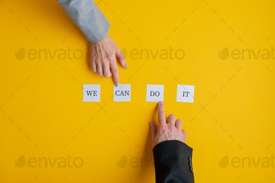 Conceptual image of business teamwork and cooperation