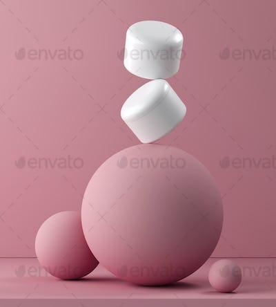Design of natural cosmetic cream , serum, skincare blank bottle packaging. bio organic product.