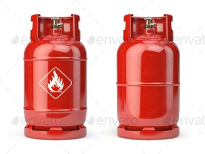 Gas bottle, cylinder or container