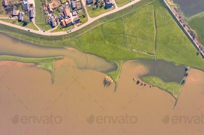 Flooded river landscape