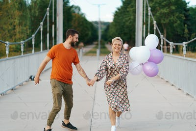 Lovely couple spend time together