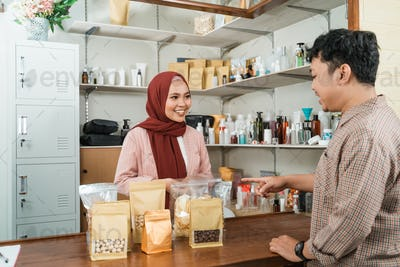 young men buy these packaged products to woman