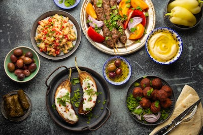 Middle eastern dinner table