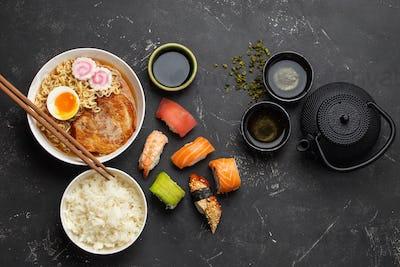 Japanese dishes set
