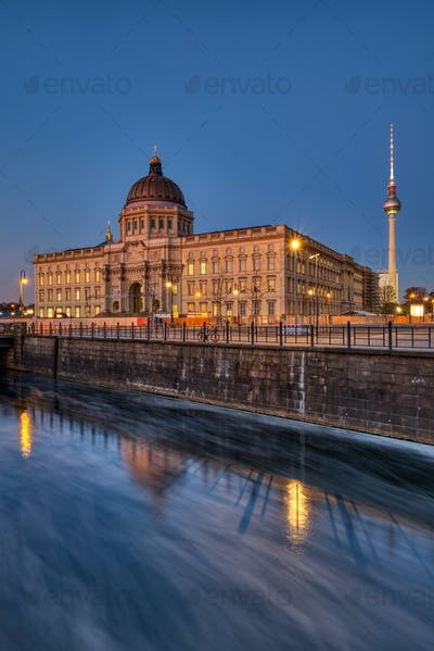 The reconstructed Berlin Palace with the Television Tower