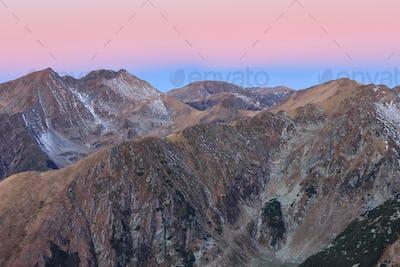 sunrise in Fagaras Mountains, Romania
