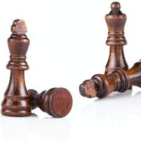 chess figures isolated on white