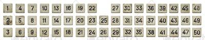 Old white numeric keypad