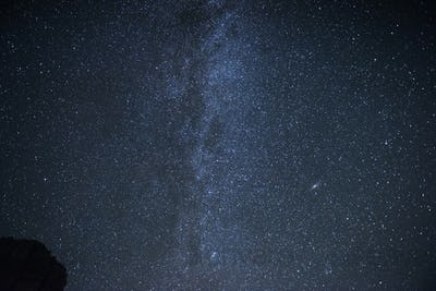 Milky way galaxy with stars and space dust in the universe. Photoed on the night sky