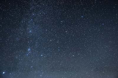 Photo of beautiful blue night sky filled with stars