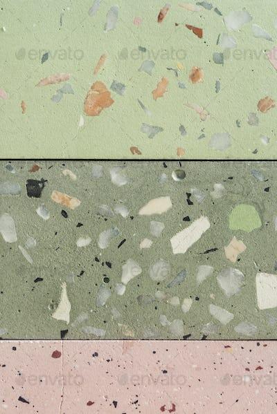 Terrazzo tile surface texture design resource