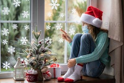 Christmas holiday during pandemic coronavirus COVID 19 concept