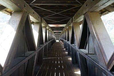Cycleway of the Venosta valley, a bridge