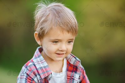 Happy smiling kid outdoor