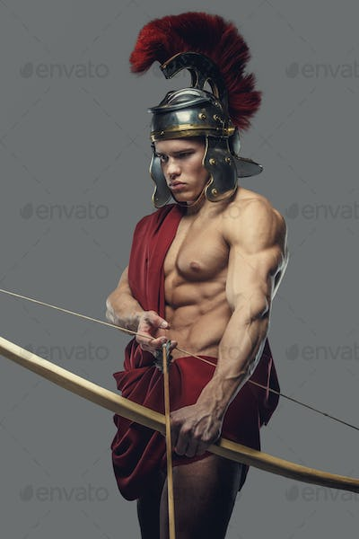 Roman warrior with bow.