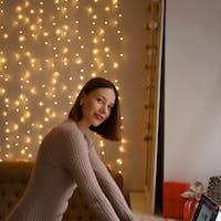 Beautiful woman Christmas online gifts shopping.